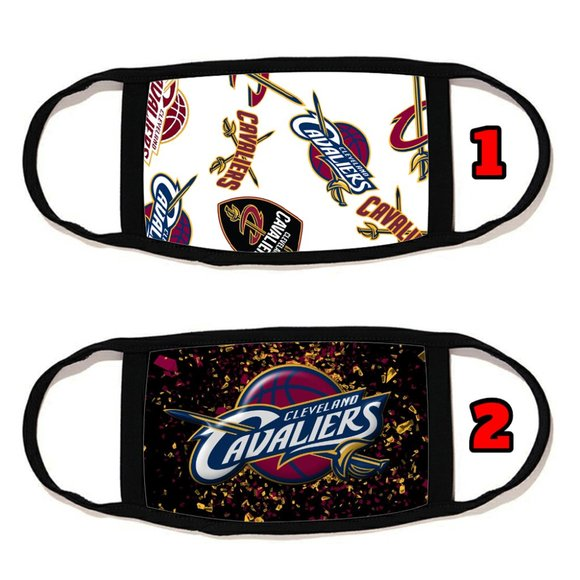 2 PACKS Cleveland Cavaliers face mask face cover